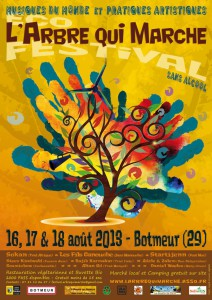 Affiche festival l'Arbre qui Marche 2013