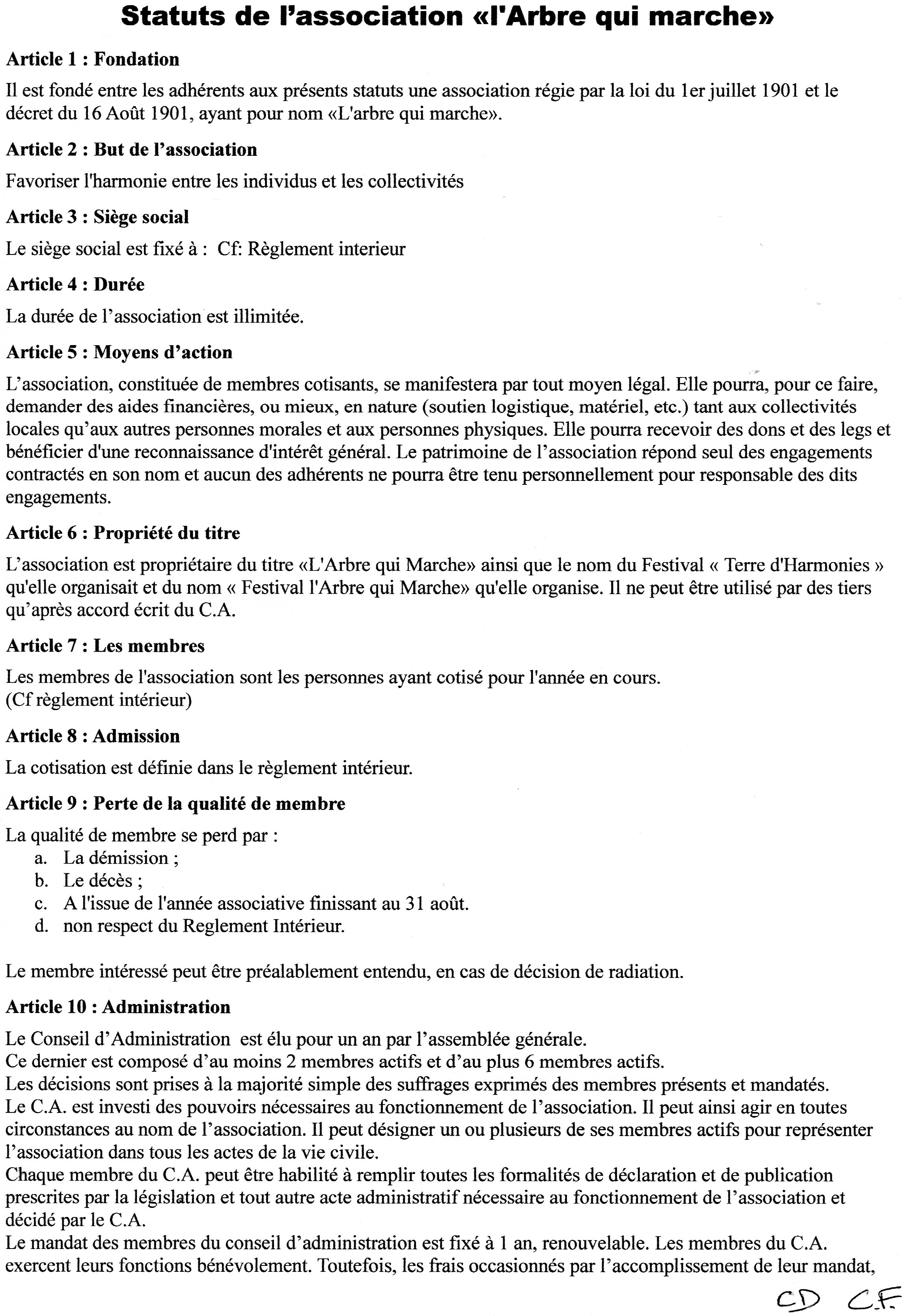 modele statuts association musicale document