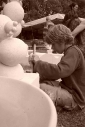 Atelier sculpture 2010 - éco-festival l'Arbre qui Marche